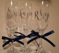 Name Vinyl Decal Sticker for Personalised Wine Champagne Glass Wedding Favour