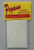 SELF ADHESIVE WIDE WHITEWALLS PEGASUS 1:24 1:25 CAR MODEL ACCESSORY 1011