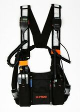 X-Fire Radio Vest Tactical Dual Chest Harness Universal Front Pouch Ham Cb Rig