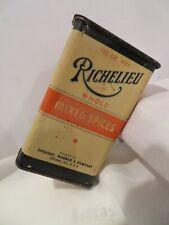 Vintage Richelieu Whole Mixed Spices Tin 1 1/2 oz Sliding Tin Lid Empty Orange