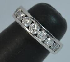 Quality Platinum & VS 1.00ct Diamond Ladies Half Eternity Stack Band Ring