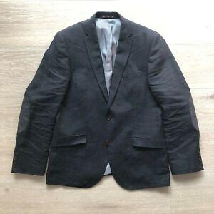 Next Signature Linen Jacket 40R Navy Blue Summer Men Blazer