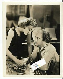 """Joan Crawford/Larry Fine Three Stooges""""Dancing Lady""""1933 Publicity Photo Still"""