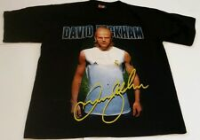VINTAGE DAVID BECKHAM REAL MADRID SPAIN ENGLAND T SHIRT SZ SMALL