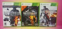 XBOX 360 GAME Lot Working! Battlefield 2 3 4 Complete Tested War Games