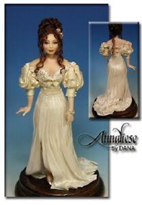 1:12 scale Miniature Doll Art Tutorials By DANA Pattern/Clothes/Hair ANNALIESE