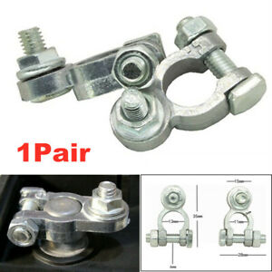 2x Car Truck Boat Battery Terminals Cable Ends Connector Clamp Negative Positive