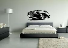 Wall Sticker Mural Decal Vinyl Decor Race Car Muscle Sport Car Auto