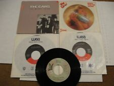 The Cars/ Lot of Five 45s / Elektra/ Canada/ Two Picture Sleeves