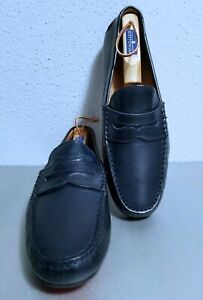 POLO RALPH LAUREN HAYWARD DRIVING MENS NAVY MOCCASIN/LOAFERS SIZE 11.D