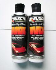 LOT OF 2 PREMIUM LIQUID WAX by BUSCH, For all gloss paint, 8 oz each