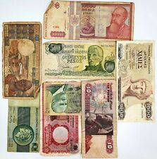 Lot of 8 World Banknotes Collection Auction From 1$