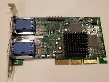 Matrox Millennium G450 G45+MDHA16D/OE6 16MB VGA AGP dual monitor Video Card