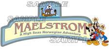 Disney World Epcot Norway Maelstrom Old Ride Scrapbook Paper Die Cut Piece