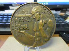 1925 Stockton & Darlington Railway Centenary British Medal by Bayes Bronze 77mm