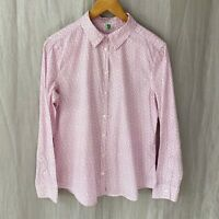 UNITED COLOURS OF BENETTON Pink White Floral Print SIZE 12 UK Long Sleeve Blouse