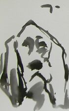 JOSE TRUJILLO - ABSTRACT EXPRESSIONISM INK WASH MINIMALISM DOG PUPPY ARTWORK COA