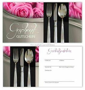 Geschenkgutscheine Gastronomie Restaurant BeautyCard4You Gutscheinkarten