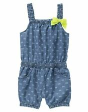NWT Gymboree Baby Girl Butterfly Chambray Romper 12 18 24mo 2T Butterfly Fields