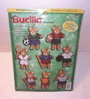 Sports Teddy Bears Christmas Ornaments Kit Bucilla Felt 8 NEW Sport Bear Variety