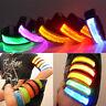 LED Light Safety Reflective Belt Strap Snap Arm Band Sports Running Armband Cool
