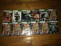 12x Xbox 360 Tested Video Game Lot - New Sealed, CIB, Loose