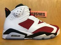 Nike Air Jordan 6 VI Retro Carmine 2014 White/Red-Black 384664-160 Size 10