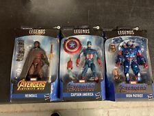 Lot Of 3 Marvel Legends Figures Captain America Heimdall Avengers Iron Patriot