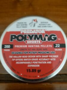 Predator International Polymag .22 Caliber Short Airgun Pellets 200 pieces