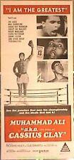 MUHAMMED ALI AKA CASSIUS CLAY MOVIE POSTER Original 1970 AUSTRALIAN Daybill Size