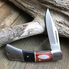 "6"" Two Tone Wood Handle Folding Lockback Hunter Pocket Knife Rite Edge New!"