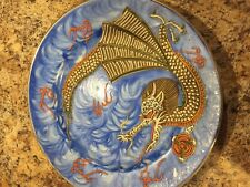 Hand Painted Antique Japanese Plate W/ Dragon design