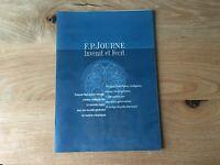 Used - Press Release F. P. JOURNE Dosier de Prensa - Mod. OCTA  1999 - 2001