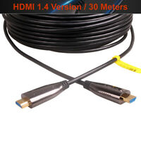 Ultra Slim Active Optic Fiber AOC High Speed HDMI Cable 1.4 Version 30 Meters