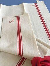 Torchons en Métis ( Epais )  Chiffrés C-C Belle qualité Liteaux Ref :1532/118