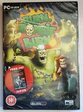 BURN ZOMBIE BURN PC CD-ROM SHOOT 'EM UP GAME + NIGHT OF THE LIVING DEAD DVD NEW!