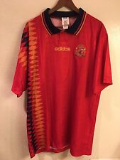 NWOT Spain 1994 World Cup Player Issue Adidas soccer jersey (size: XL)