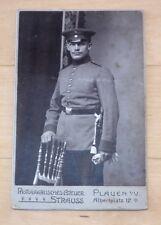 Soldat mit Dolch Inft. Regiment 134 Plauen Vogtland Orig. Kabinettfoto