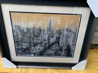 DARIO MOSCHETTA NYC 2 Lithograph Custom  Framed And Matted