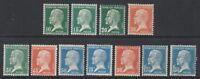 France - 1923/6, Pasteur set less 1f stamp - M/M - SG 396/400d