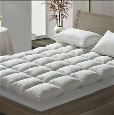 Luxury Duck Feather & Dawn Box Stitched Quilted Mattress Topper Enhancer, Pillow