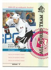 2004-05 UD SP Authentic #124 Scott Stevens All World Team