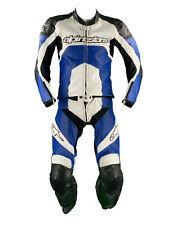 Alpinestars Lederkombi Gr. 48 Zweiteiler Motorradkombi Leather Suit Schwarz Blau