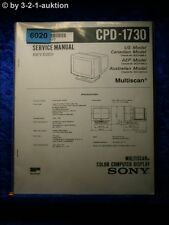Sony Service Manual CPD 1730 Computer Display (#6020)