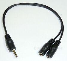 3,5mm Klinke Audio Kabel Y Verteiler Kupplung Stereo 2x Buchse Stecker 0,2m