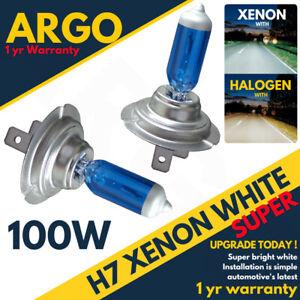 H7 100w Xenon Headlight Bulbs Super White 8500k Lamp Light Effect Hid 12v Bulb