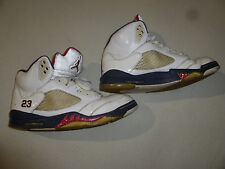 VINTAGE NIKE AIR JORDAN 5 V RETRO OLYMPIC INDEPENDENCE DAY 136027-103 SIZE 12 23