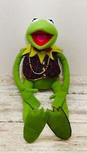 """Vintage Muppets Kermit the Frog Eden Toys Plush W/ Vest Bow Tie 24"""" Macys"""