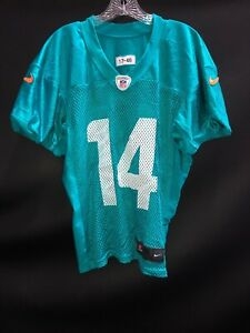 #14 JARVIS LANDRY MIAMI DOLPHINS GAME USED AQUA NIKE PRACTICE JERSEY YEAR-2017