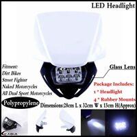 Offroad Dirt Bike LED Headlight Lamp Fairing For Yamaha XT125 XT350 WR450 YZ250